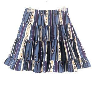 VINTAGE Short Full Swingy Western Skirt